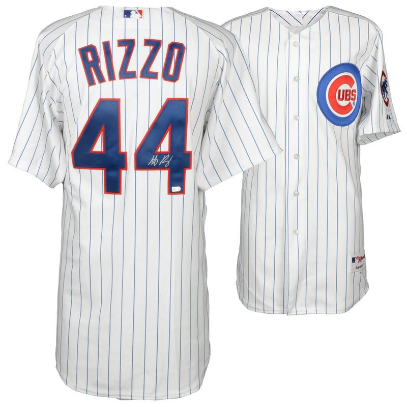 b1ded63b5 Anthony Rizzo Chicago Cubs Fanatics Authentic Autographed White Authentic  Jersey -