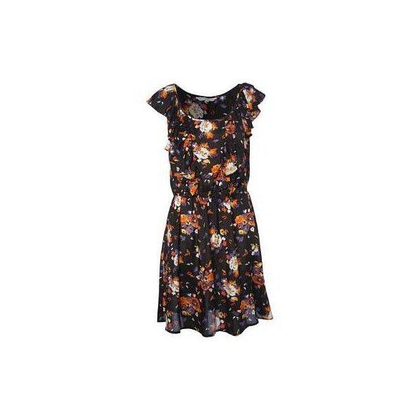 Floral Print Dress (545 ZAR) ❤ liked on Polyvore featuring dresses, sukienki, vestidos, sequin dress, sequin embellished dress, colorful floral dress, floral print dress and colorful dresses