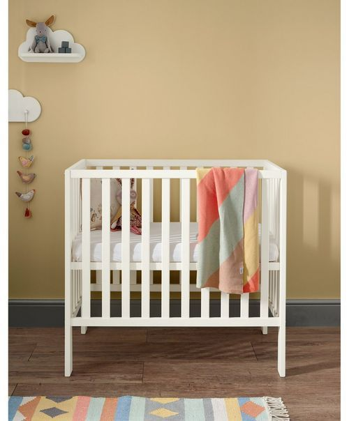 cheaper 260f3 f54f1 Petite Compact Cot for Baby to 1 Year - Pebble Grey | New ...