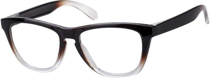 order online unisex brown full rim acetateplastic wayfarer eyeglass frames model 123721