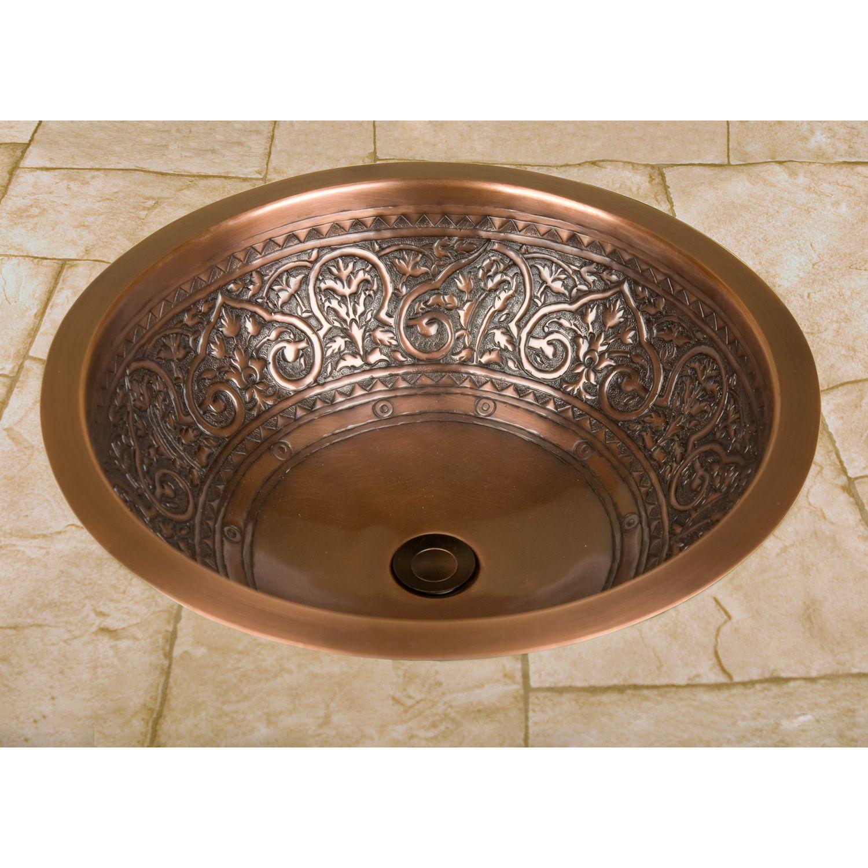 18 Scrolled Copper Sink Copper Sink Bathroom Drop In Bathroom