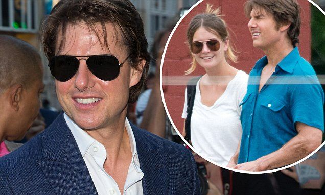 Tom Cruise, 53, looks handsome in blue suit in Vienna