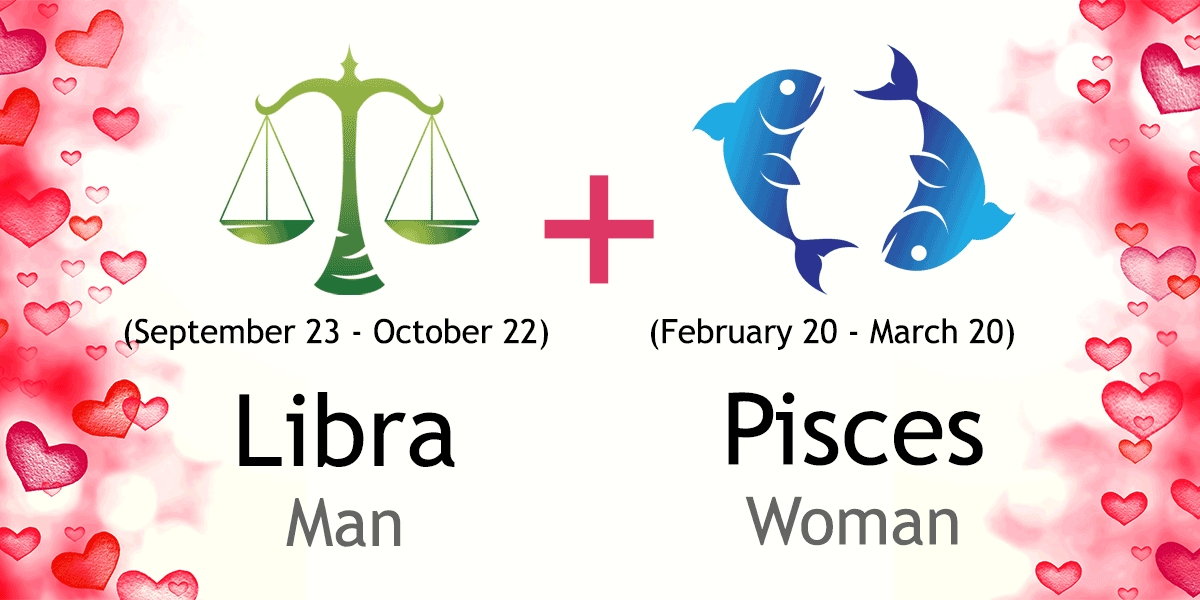Pisces woman libra man love relationship