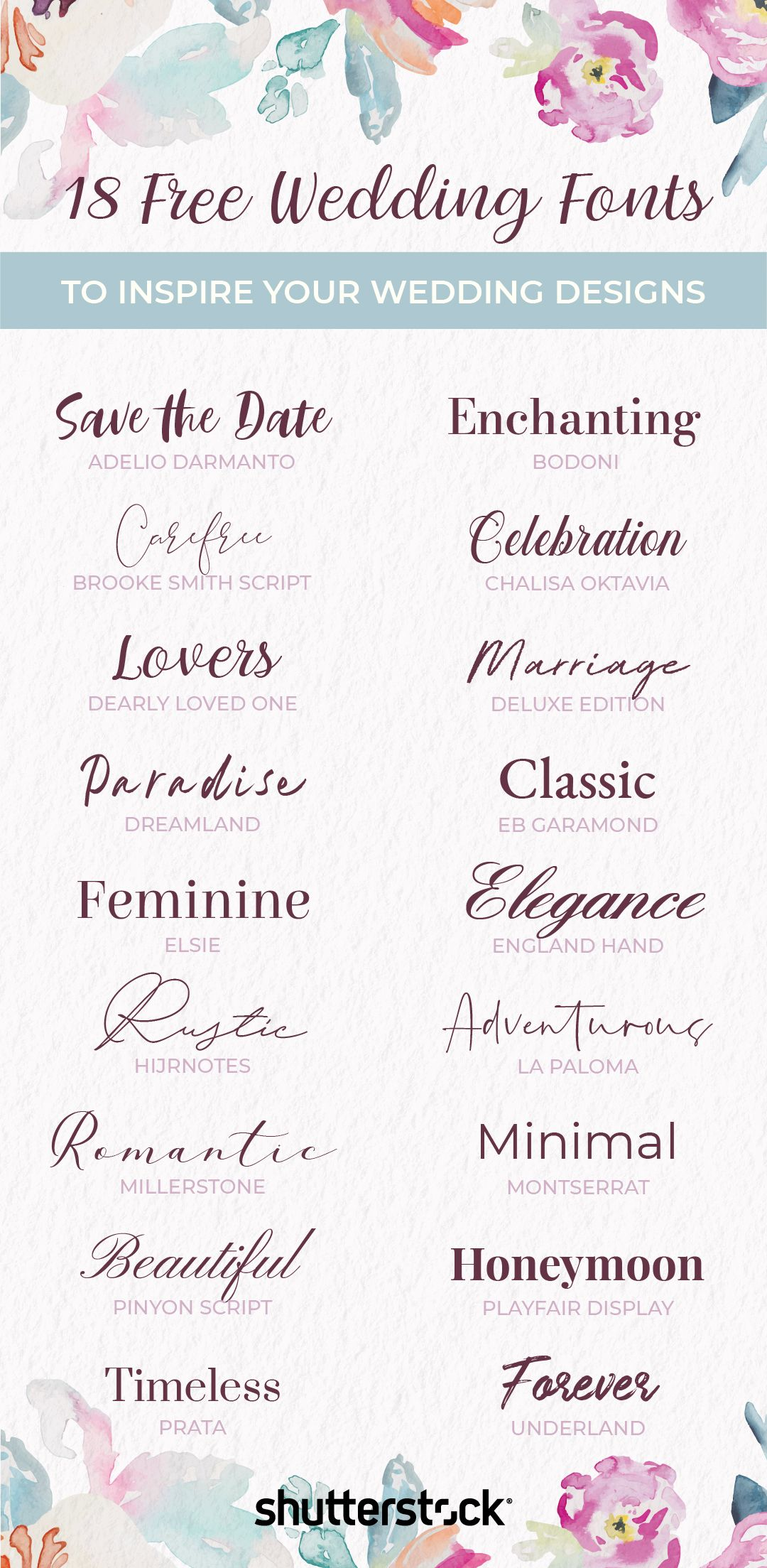Wedding Ideas 18 Free And Unique Wedding Fonts For