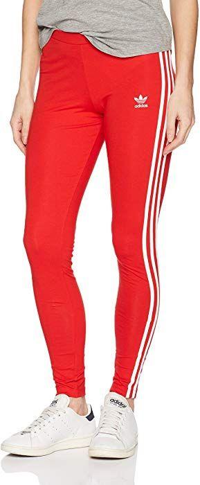8c3bf72d5 adidas Originals Women's Originals 3-Stripes Leggings, Vivid Red, L at Amazon  Women's Clothing store: