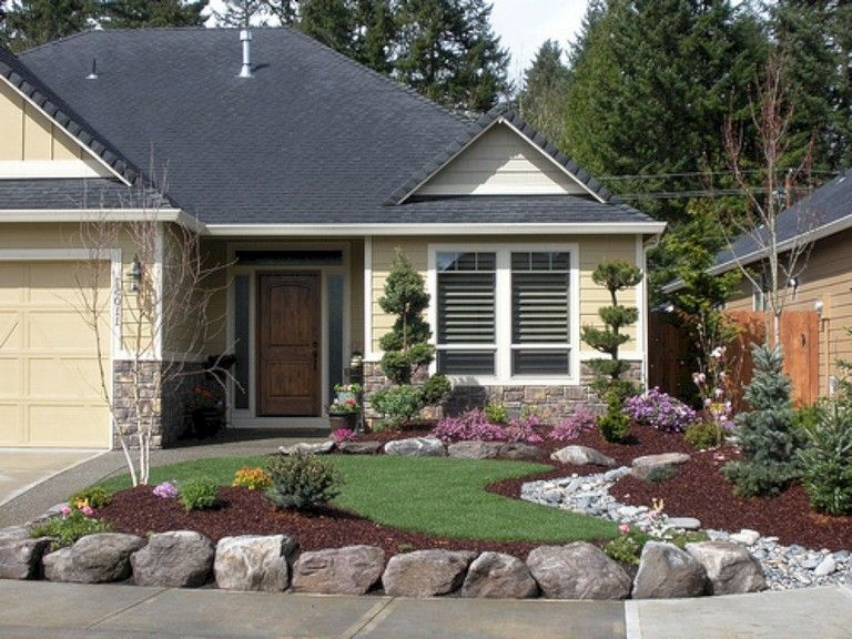 20+ Beautiful Front Yard Landscaping Remodel Ideas ... on Backyard Redesign Ideas id=61225