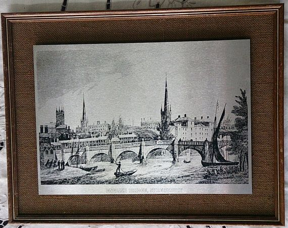 Vintage English Bridge Shrewsbury by Connoisseur Steel Reproductions ...