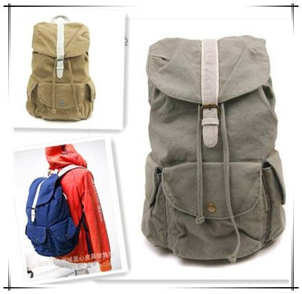 Mens Professional Designer Canvas Backpack Korean Style Unisex Bag YX1109 Free Shipping
