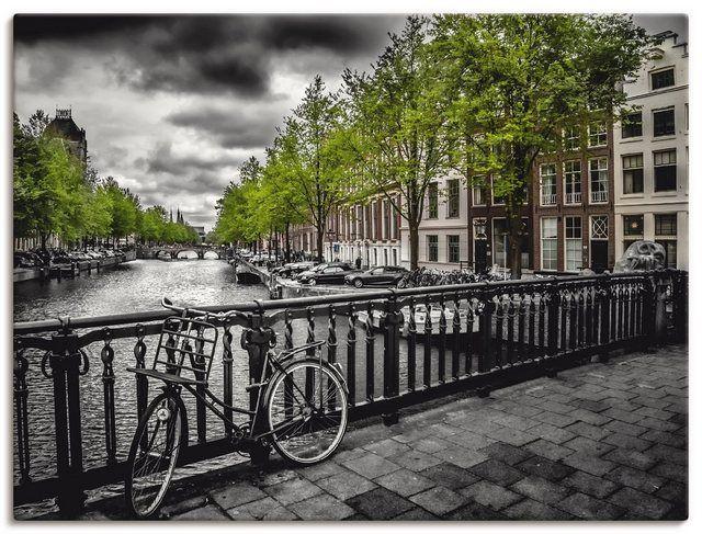 Leinwandbild »Städte Niederlande Amsterdam Fotografie Grau«