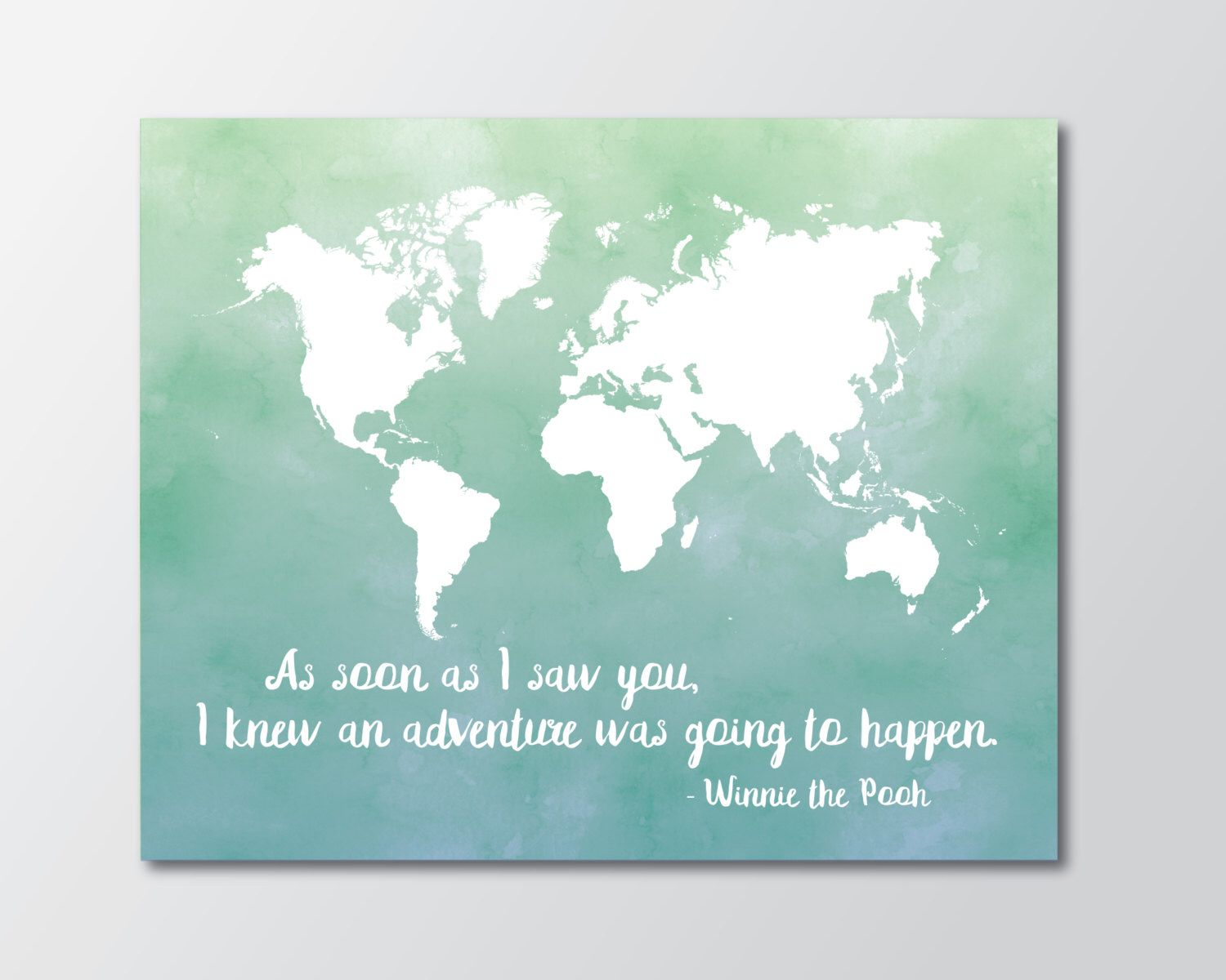 World map watercolour map print kids wall art map world map world map watercolour map print kids wall art map world map art print gumiabroncs Image collections
