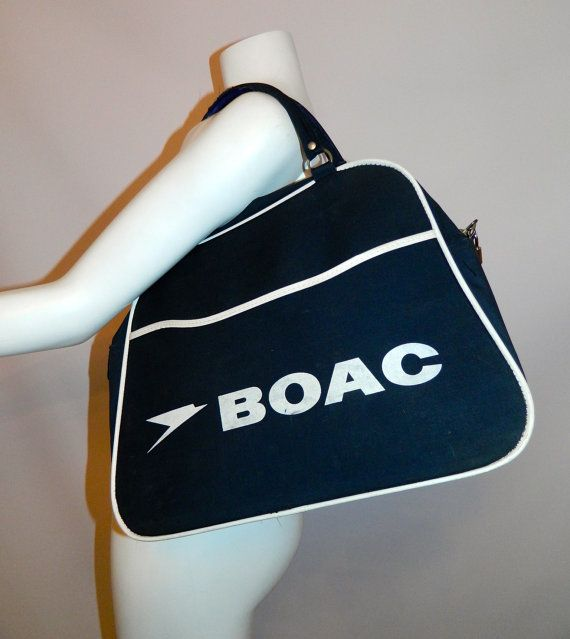 c91e1d8fc9 vintage 1960s BOAC flight bag carry on by RetroHommeVintage