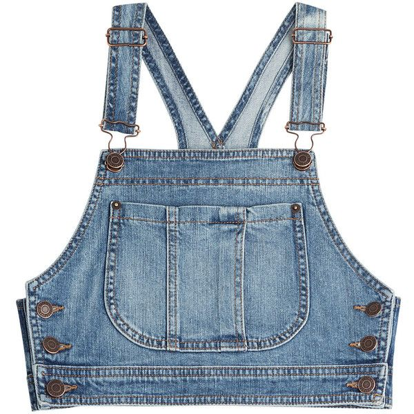 0f7acb85d4 Moschino Denim Crop Top ( 220) found on Polyvore featuring women s fashion