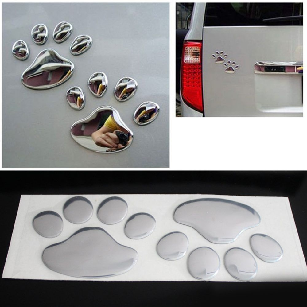 3D Car Sticker Cool Dog Paw Print Design Price: $ 7.75