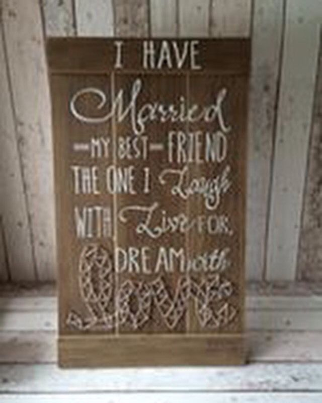 Large Wooden Wedding Sign Today I Marry My Best Friend