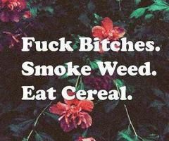 Fuck Bitches. Smoke Weed. Eat Ceral.