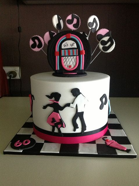 1950 S Rock N Roll Cake 60th Anniversary Party