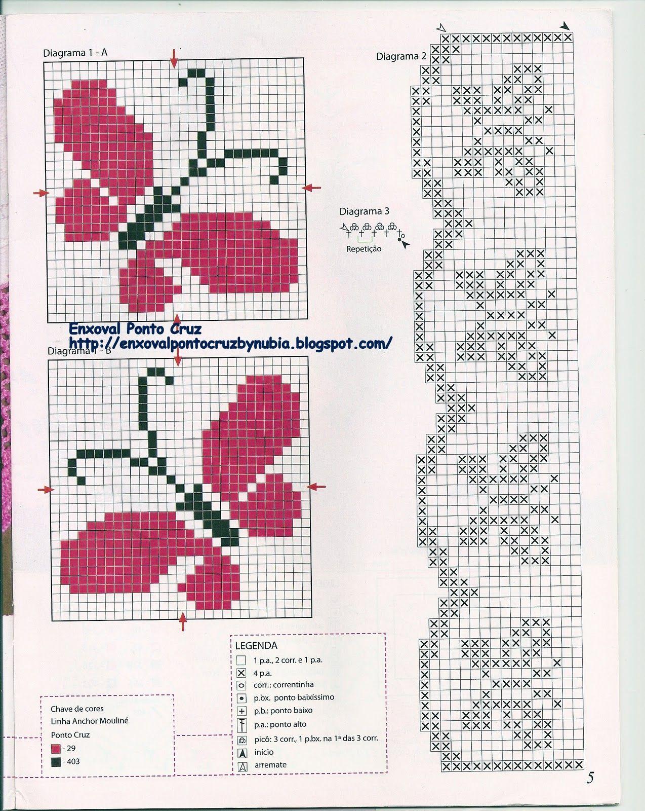 Enxoval Ponto Cruz By Nubia Cortinhas Graficos Praticos Para