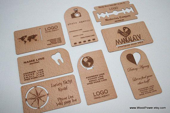 Holz Visitenkarte Einzigartiges Design Set Von 100