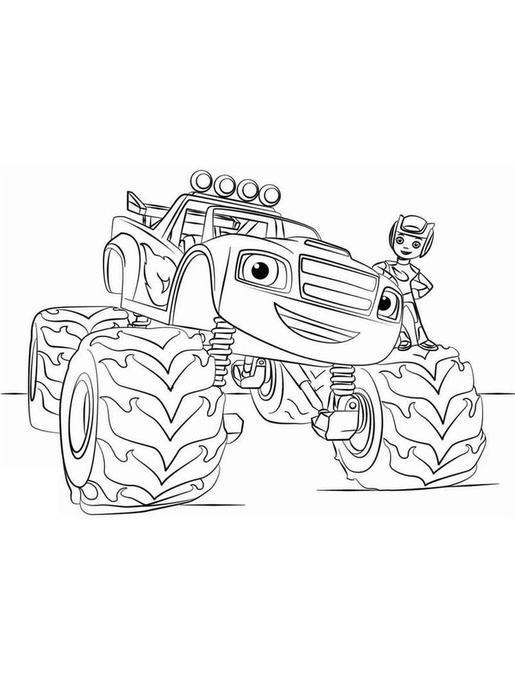 Coloring Pages For Blaze And The Monster Machines Blaze And The Monster Machine Is An Animated Te Cartoon Coloring Pages Nick Jr Coloring Pages Coloring Pages