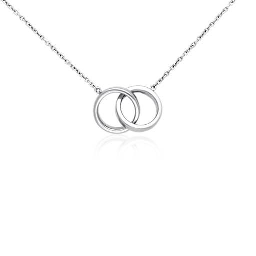 Infinity rings necklace in sterling silver infinity sterling infinity rings necklace in sterling silver blue nile aloadofball Choice Image