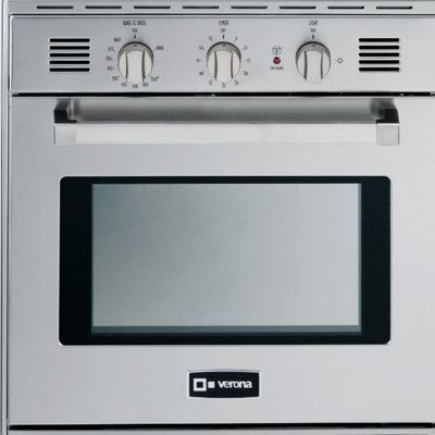 Verona 24 Single Gas Wall Oven Finish Stainless Steel