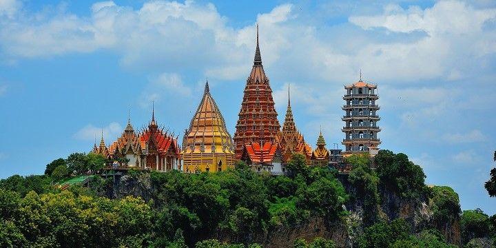 Wat Tham Sua, Tiger's Cave Temple, Kanchanaburi, Central Thailand, Asia