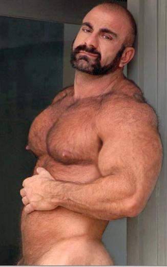 Huge hairy men