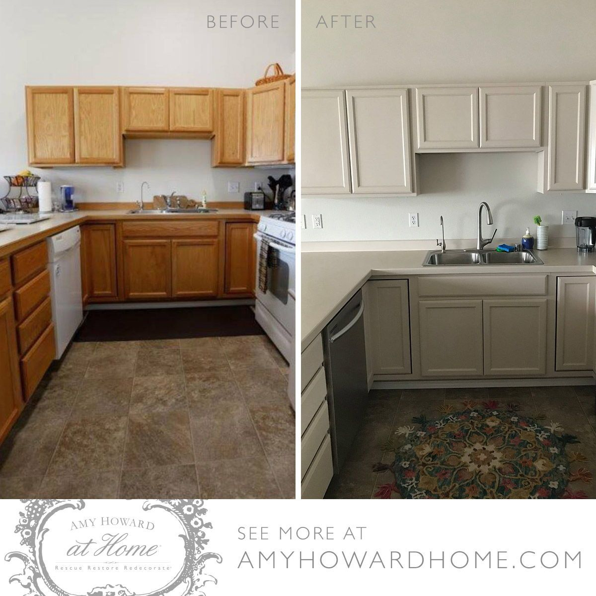 We Love How Amy Howard At Home Customer And Instagram User Alexaives Put Linen One Ste Amy Howard Chalk Paint Kitchen Cabinets Painted Kitchen Cabinets Colors