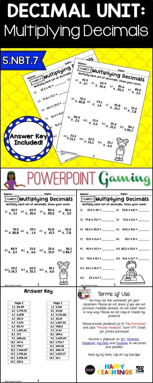 Multiplying Three Digit Hundredths By Two Digit Tenths A Decimals Worksheet Decimals Worksheets Multiplying Decimals Decimal Multiplication