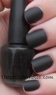 Black Matte Opi Styles In 2019 Matte Nail Polish Matte Nails