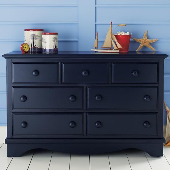 The Land Of Nod Kids Dressers Kids 7 Drawer Painted Dark Blue
