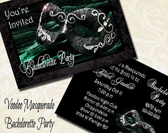 Voodoo Masquerade Bachelorette Printed by TheInspiredEdge on Etsy