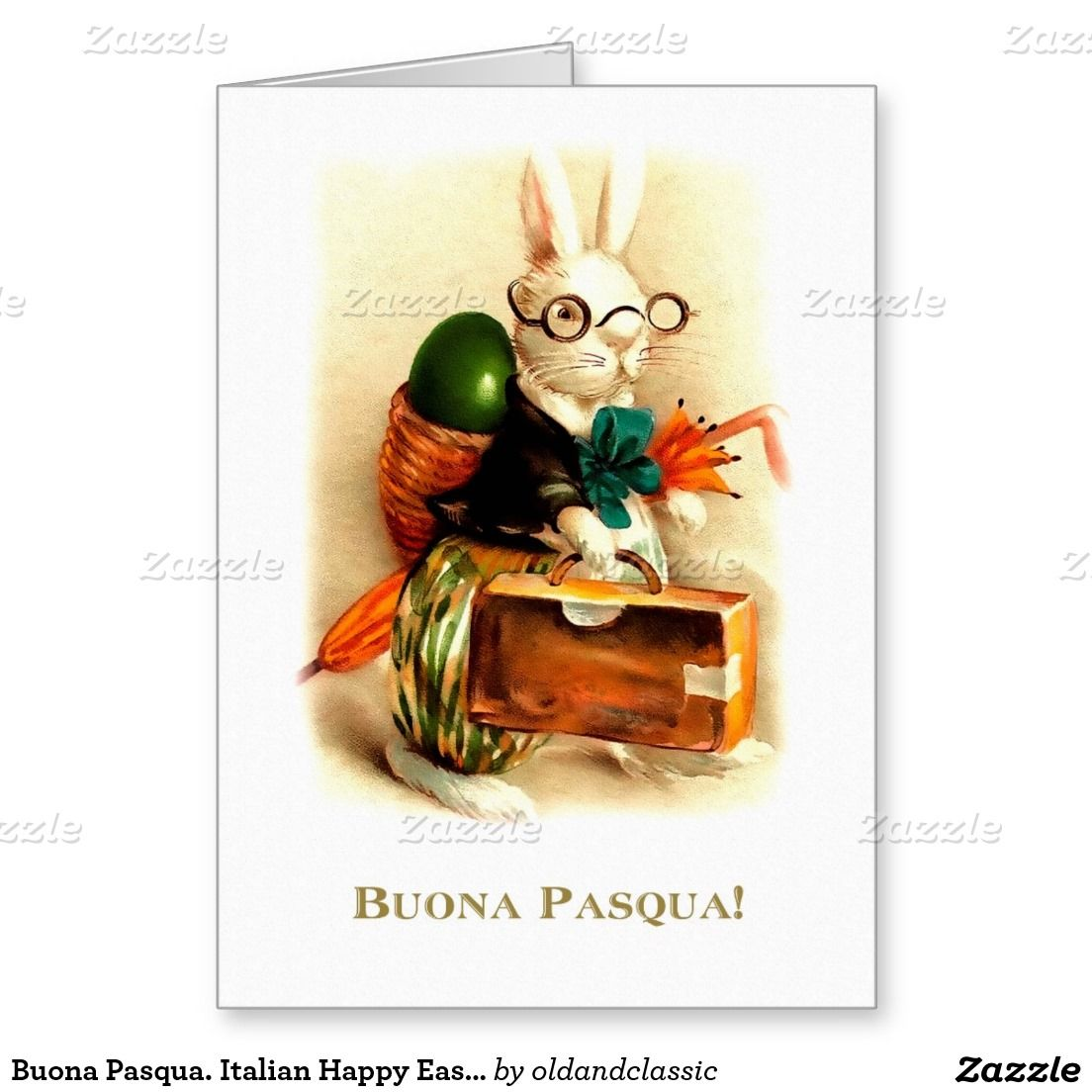Buona Pasqua Customizable Easter Greeting Cards In Italian With A