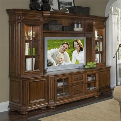 Riverside Furniture Cantata 63 Inch Tv Console Wall System