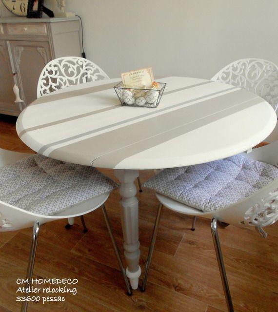 meuble relooké table bois massif relookée déco cosy bord de mer
