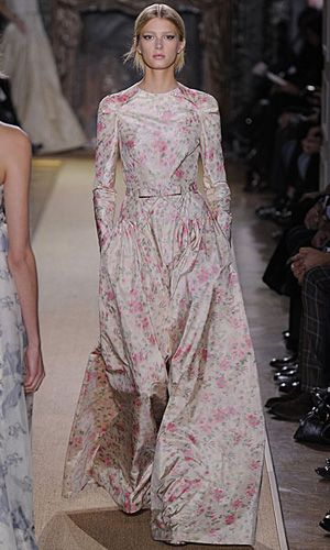 Elegant Florals  from Valentino at Couture Week in Paris
