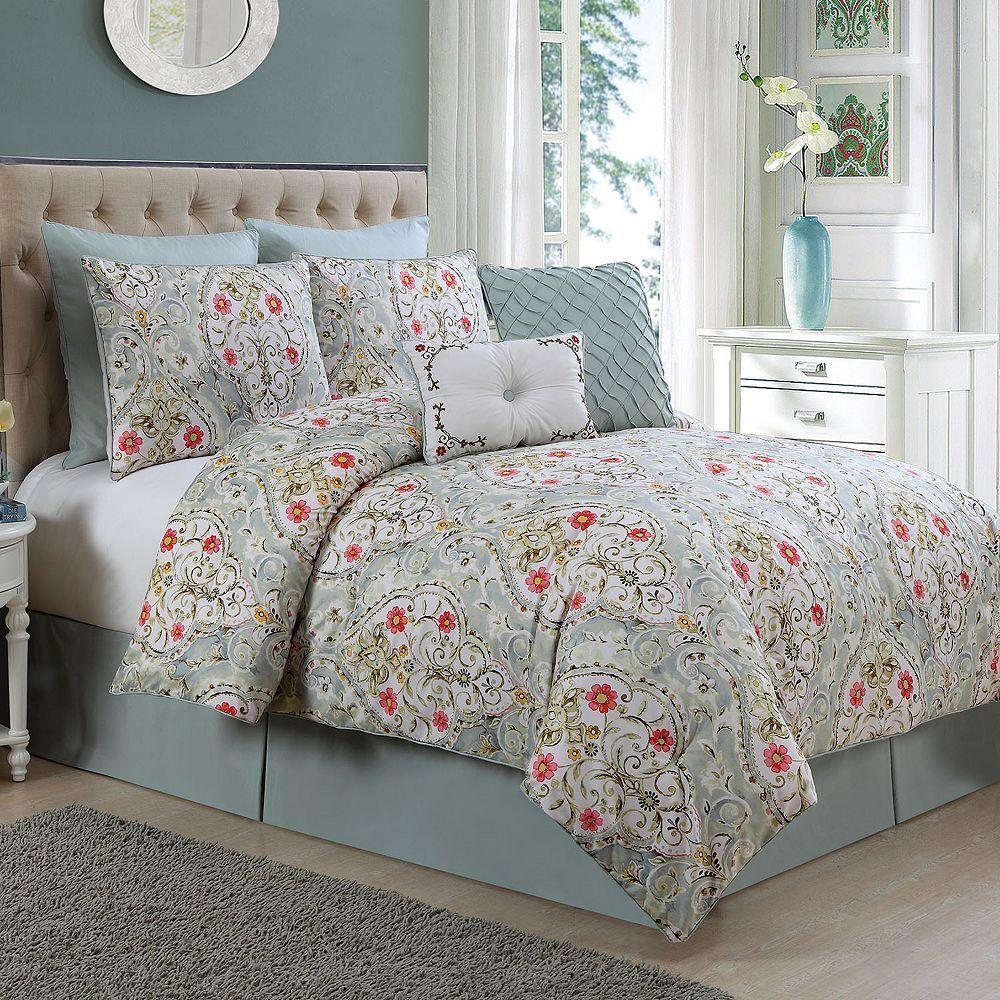 Vcny Home Evangeline Comforter Set Comforter Sets Red Comforter