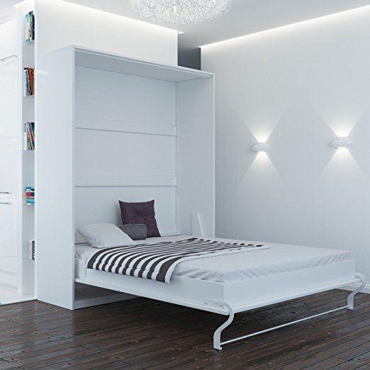 Schrankbett 160x200 Weiss Mit Gasdruckfedern Ideal Als Gastebett