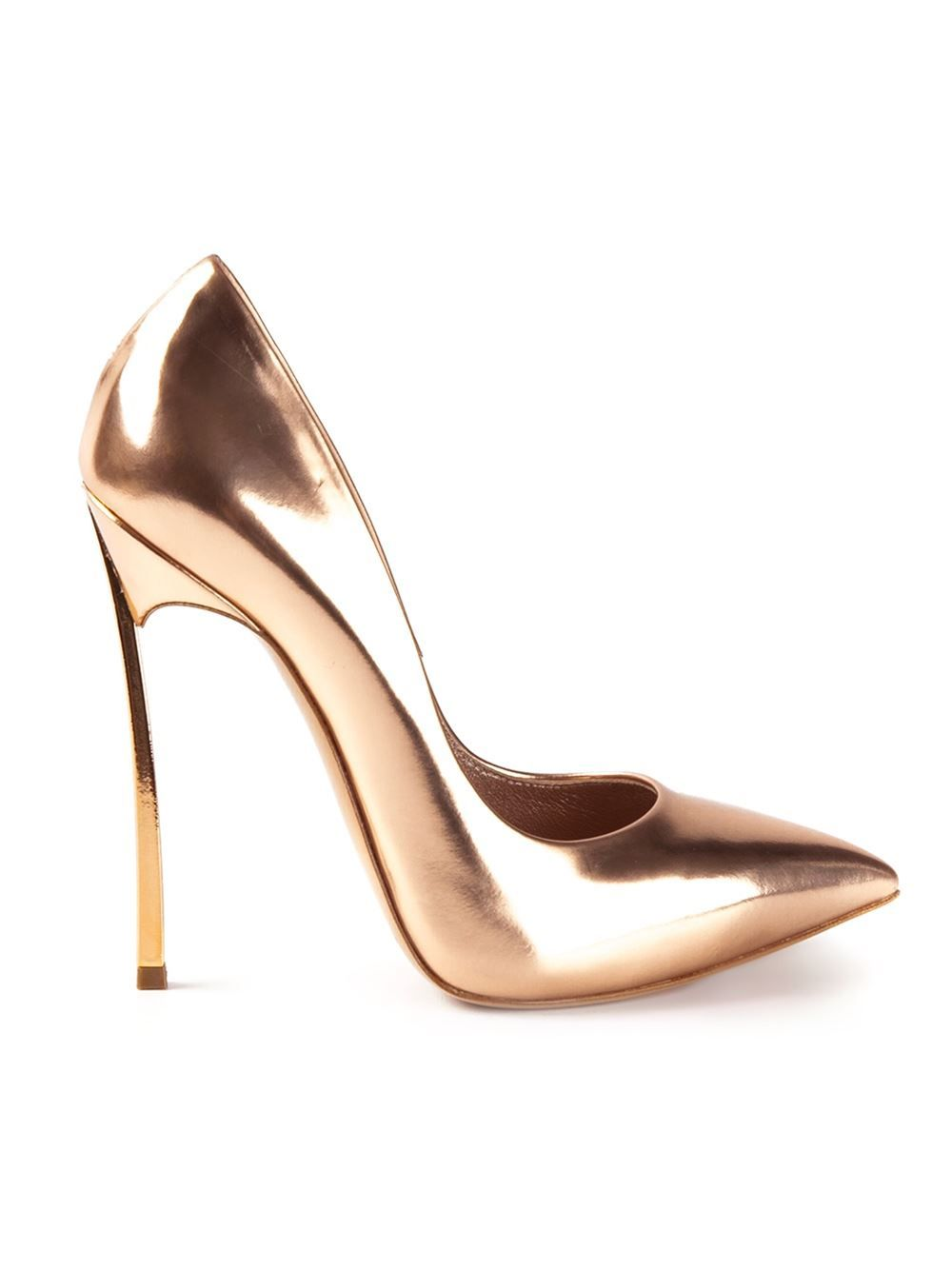 Pair these metallic pumps with an all white matching set a la Emma Roberts // Casadei High Heel Pumps ($777)