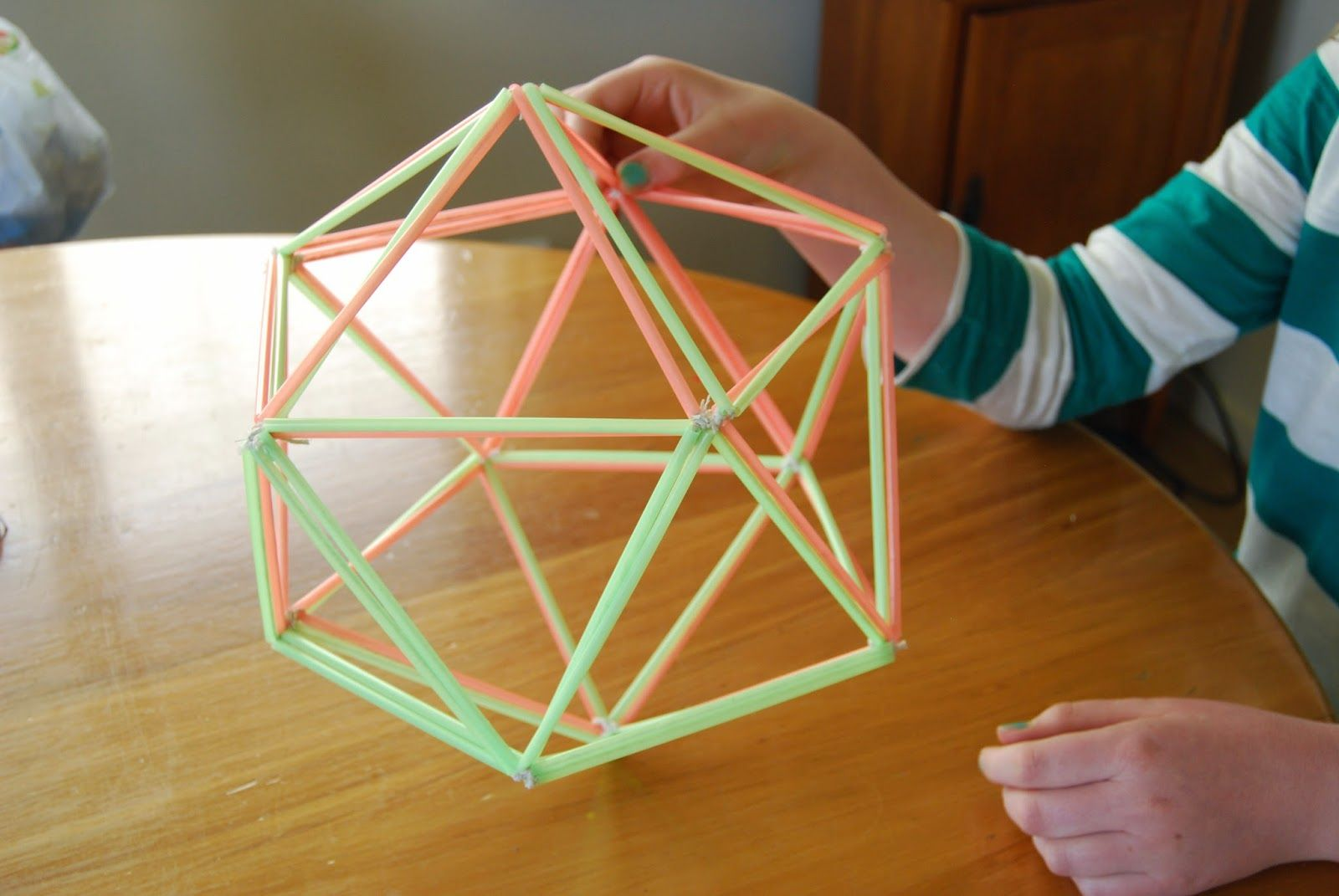Ole Mother Hubbard Geometry Fun Week Tetrahedron And Octagonal Prism Made From Straws String