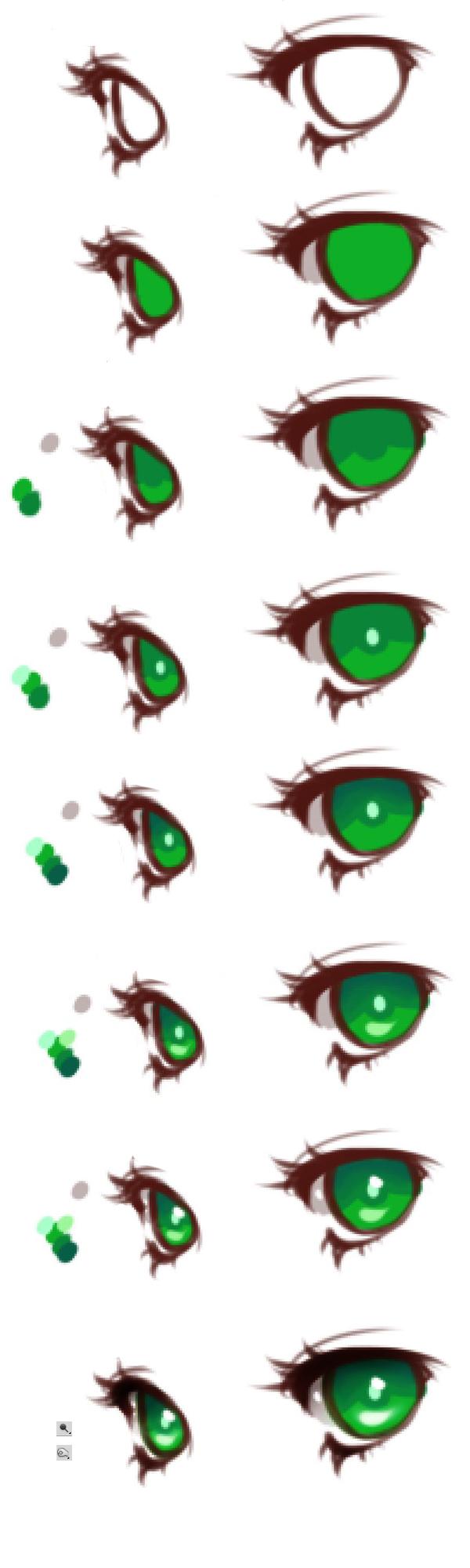 Anime Eyes Coloring Tutorial By Haloblabla Deviantart Com On