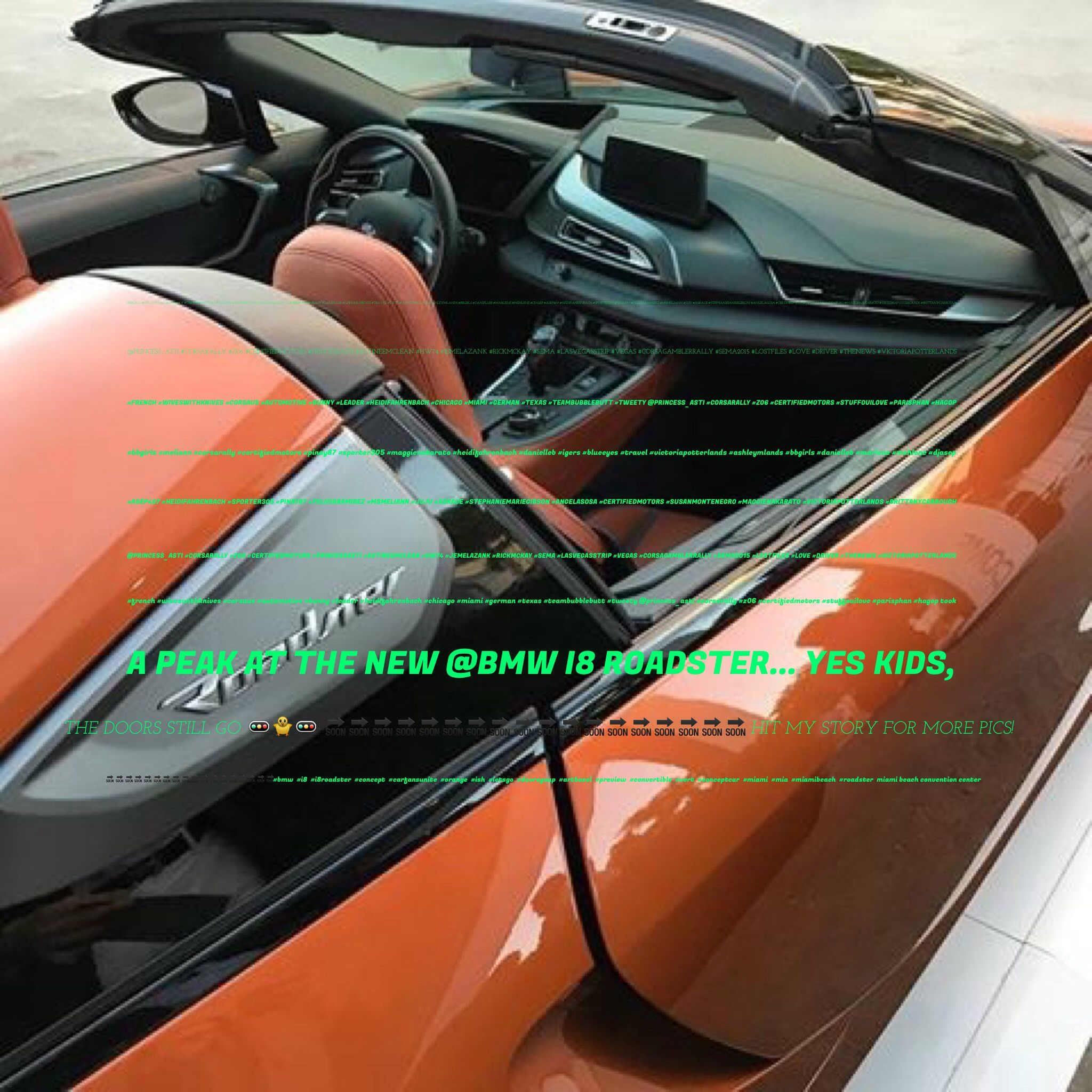 Took A Peak At The New Bmw I8 Roadster Yes Kids The Doors Still