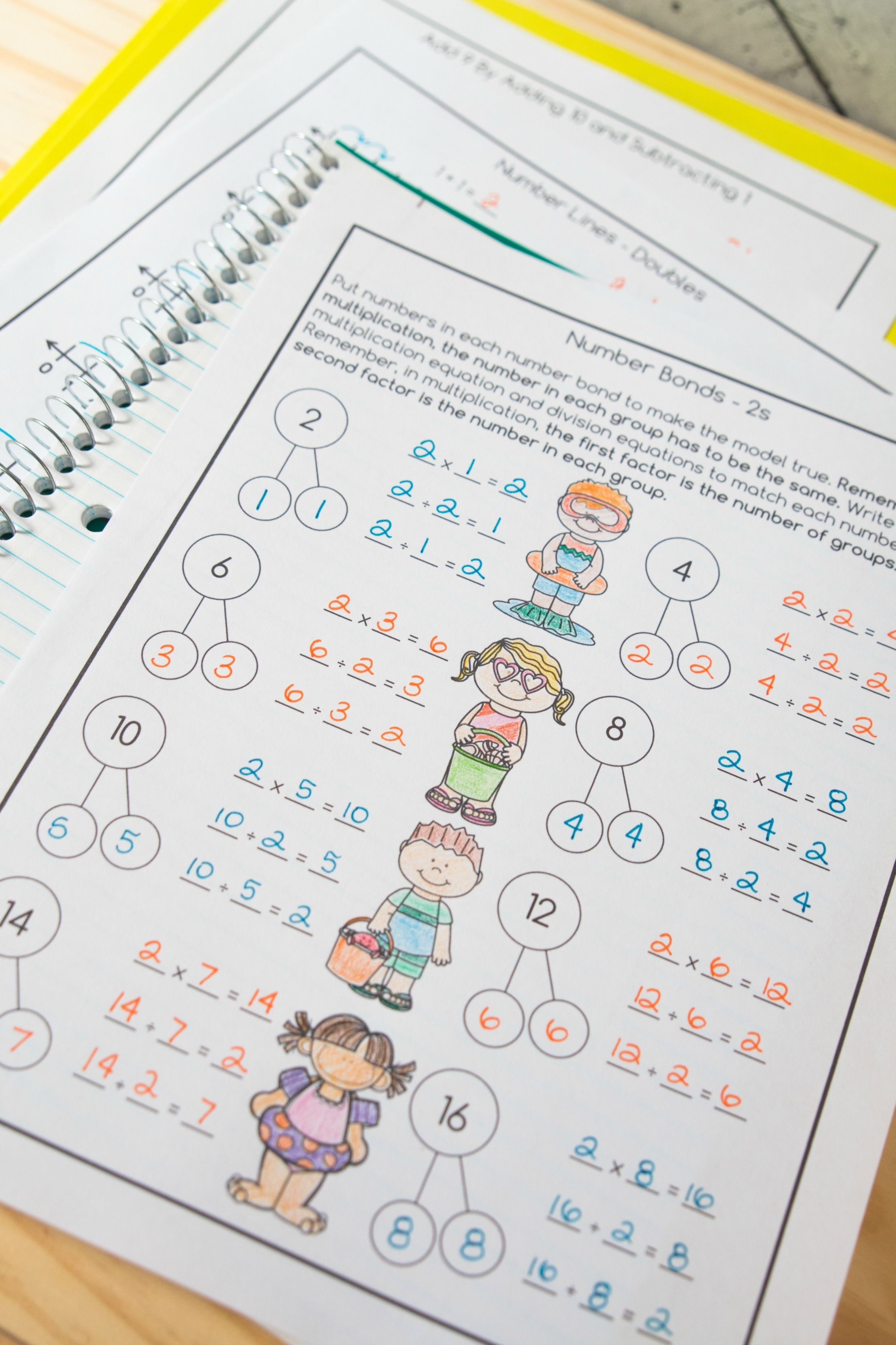 Multiplication And Division Math Facts Worksheets Summer