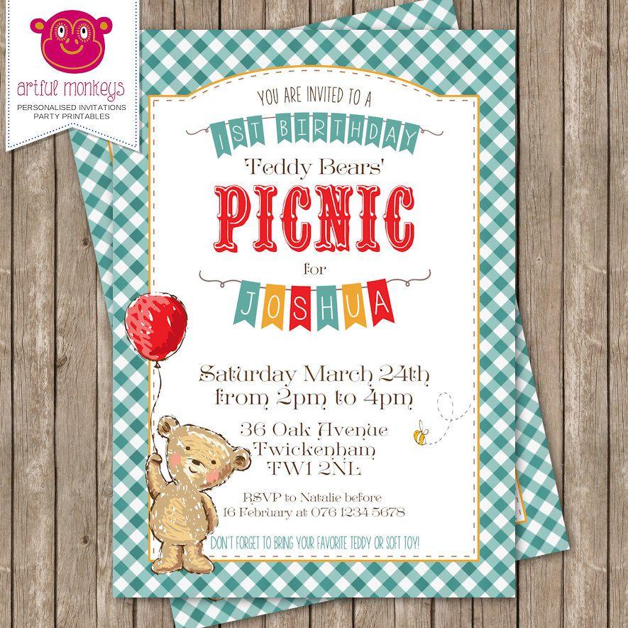 teddy bear picnic birthday