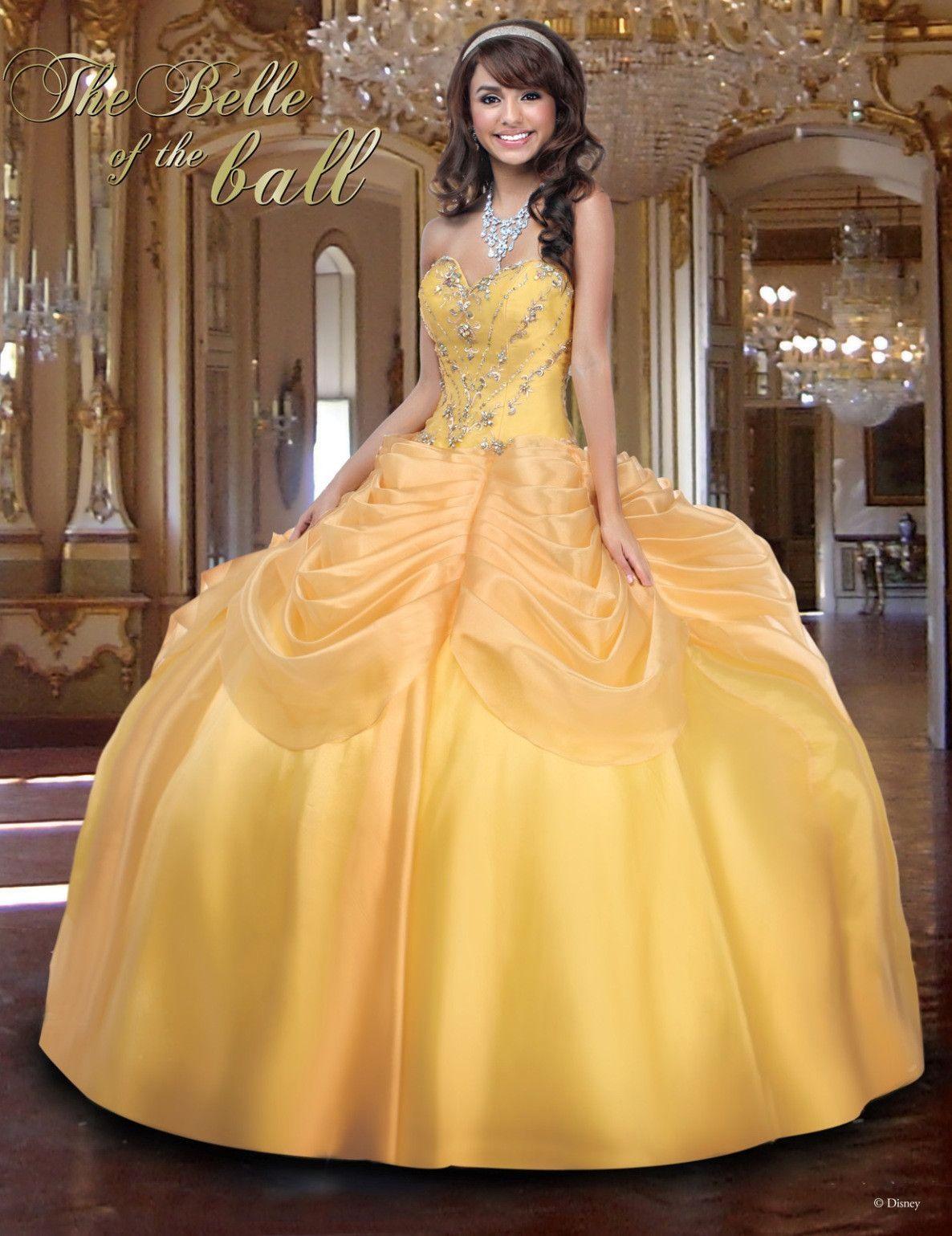 c6f19b67f60 Disney Royal Ball Quinceanera Dress Belle Style 41004