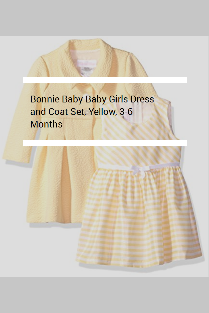 1e0454702 Bonnie Baby Baby Girls Dress and Coat Set, Yellow, 3-6 Months ...