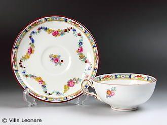 Bloomington Rose cup and saucer (Flat Type)
