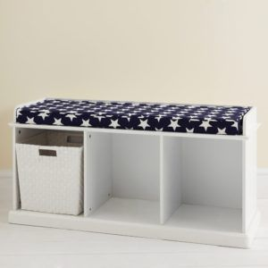 Childrens Storage Bench White