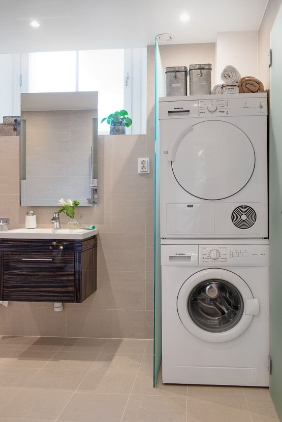 Lotf nórdico de fantásticos acabados | Baño con lavadora ...