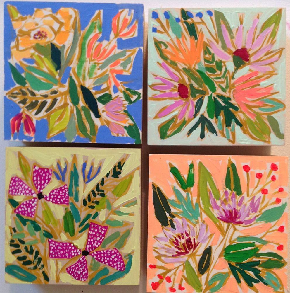 Mini acrylic paintings